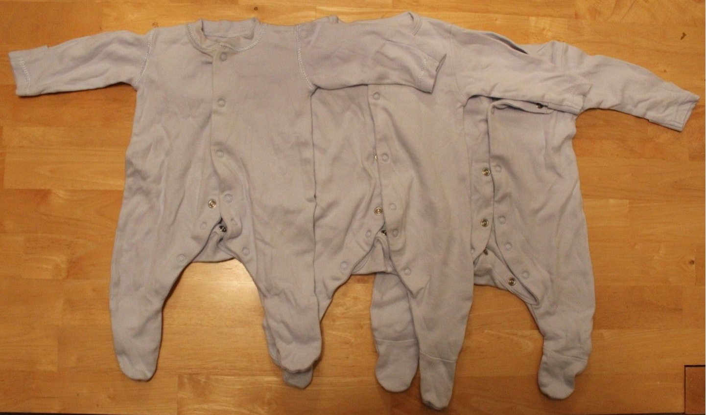 808a04ad9 TB-B-3 - Tiny Baby Boy Clothes 7.5 lbs Bundle 3 Baby grows + nappies size 1
