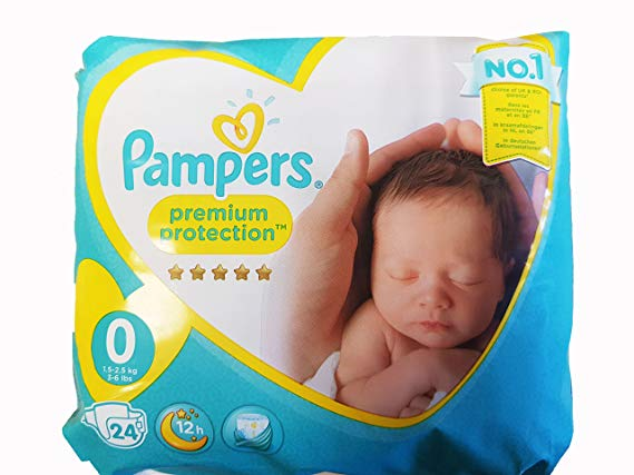 Pampers Size 0 Pack Of Nappies 24